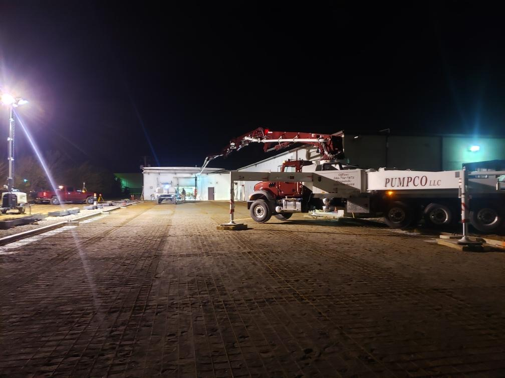 PumpCo Work site image of truck during evening